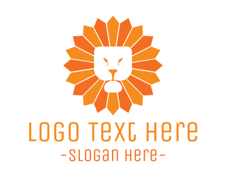 Dandelion - Sun Lion logo design