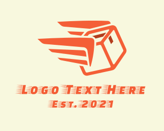Package - Winged Package Express  logo design