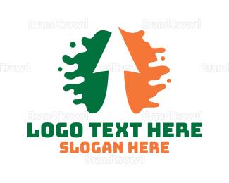 Irish - Ireland Arrow Splash logo design