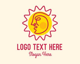 Ray - Summer Sun Face logo design