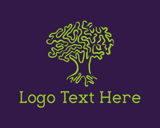 Leadership - Green Tree logo design