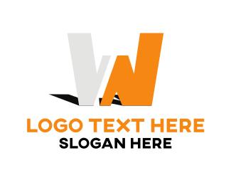 Shadow - Letter W logo design