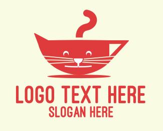 Coffee - Cat Mug logo design