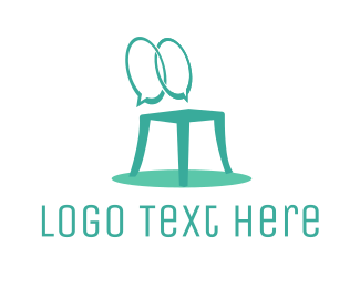Stool - Furniture Chat logo design