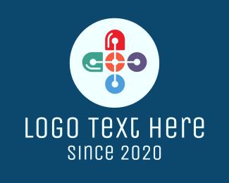 Caplet - Medical Drugstore Cross logo design