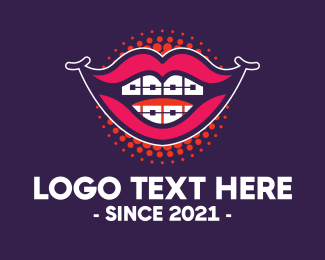 Comedy - Happy Smiling Lips logo design