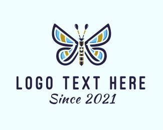 Multicolor - Multicolor Butterfly logo design