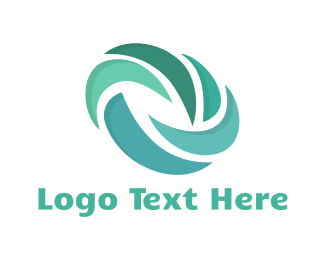 Turbine - Blue Turbine logo design