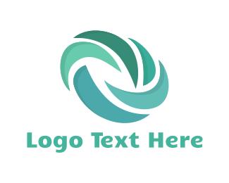 Spin - Blue Turbine logo design
