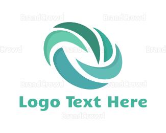 Eco Energy - Blue Turbine logo design