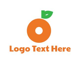 Tangerine - Orange Letter O logo design