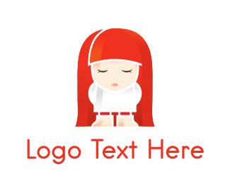 Doll - Redhead Doll logo design