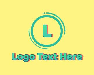 Swimwear - Cool Funky Gradient Letter logo design