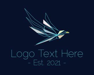 Falcon - Modern Polygon Falcon logo design