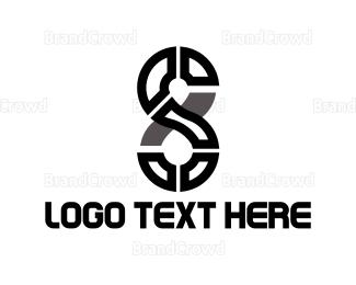 Eight - S & 8 logo design