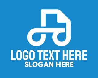 File - White Document File logo design