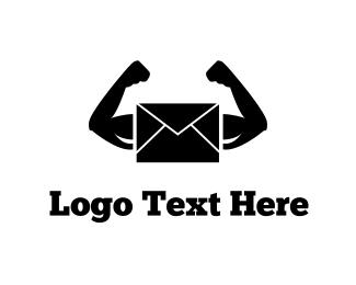 Postcard - Strong Mail logo design