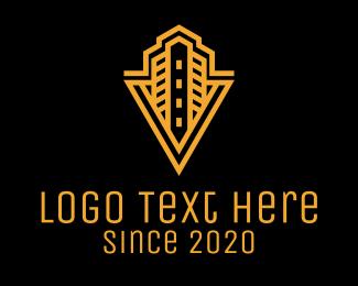 Renovation - Gold Luxury Hotel logo design