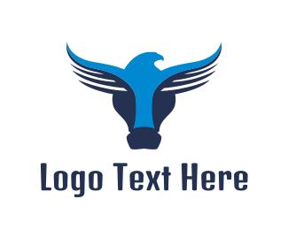 Birdwatch - Abstract Buffalo Eagle  logo design