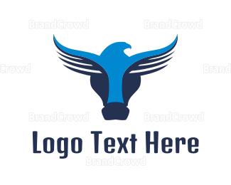 Buffalo - Abstract Buffalo Eagle  logo design