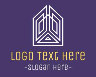 House - Minimalist Building logo design