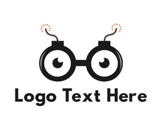 Boom - Bomb Eyes logo design