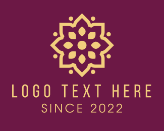 Holistic - Golden Flower Pattern  logo design