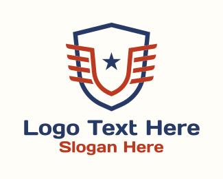 Athlete - Athletic Star Crest logo design