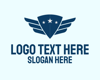 Pilot Training - Shield Pilot Wings logo design
