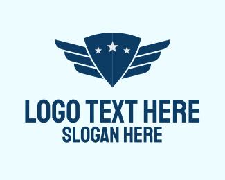Pilot - Shield Pilot Wings logo design