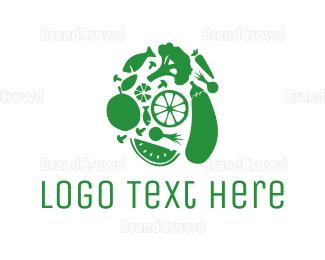 Farm To Table - Green Food logo design