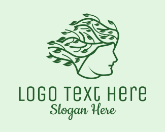 Organic Beauty - Organic Hair Products logo design