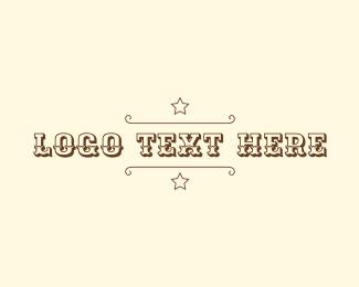 Sheriff - Cowboy Sheriff Wordmark logo design