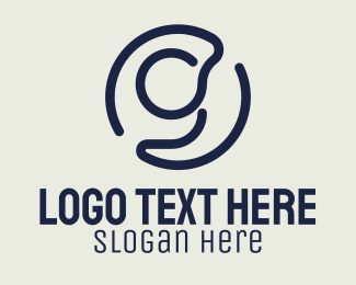 Lounge - Blue Letter G Monoline logo design