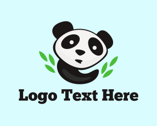Panda - Panda & Bamboo logo design