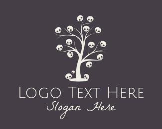 Dark - Skull Tree logo design