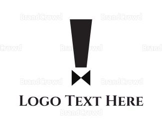 Bachelor - Exclamation Suit logo design