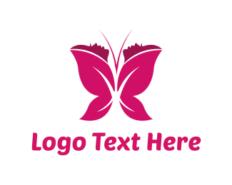 Dragonfly - Women Butterfly  logo design