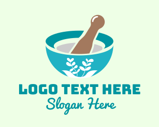 Organic Product - Organic Mortar Pestle logo design