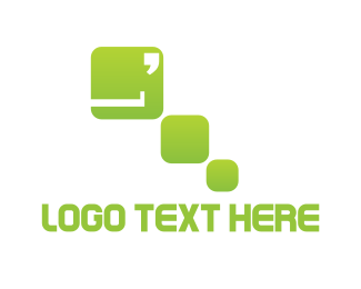 Worm - Square Caterpillar logo design