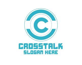 Random Blue Modern Lettermark  Badge logo design