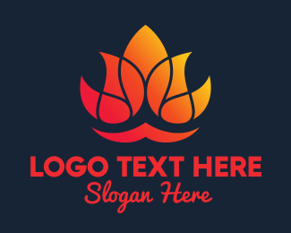 Lotus Flower - Hot Yoga Lotus Spa logo design