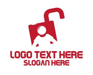 Safe - Lock Man logo design