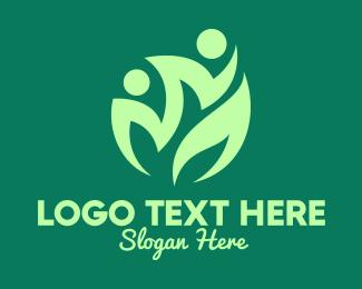 Green Living - Green Healthy Community logo design