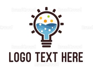 Research - Idea Lab Bulb logo design