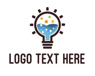 Idea - Idea Lab Bulb logo design