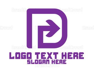 Distribution - Letter D Arrow logo design