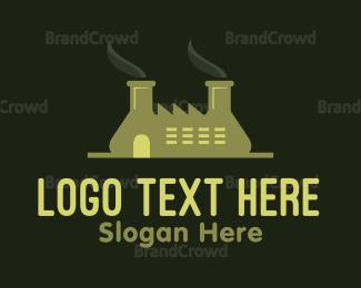 Toxic - Green Factory  logo design