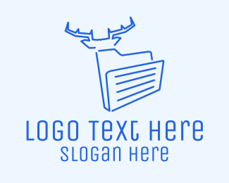 Files - Blue Deer Folder logo design