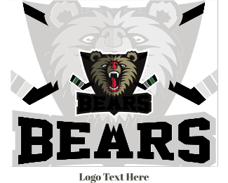 Fangs - Hockey Bear logo design